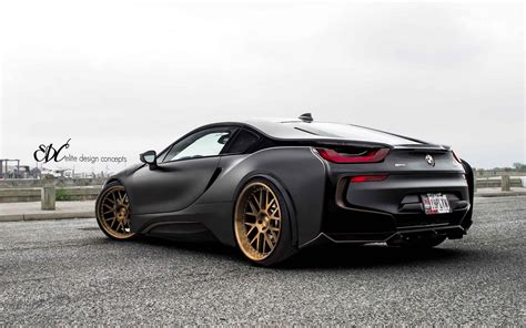 matte bmw i8 matte black bmw i8 stuns with bronze wheels carscoops