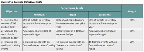 sales growth plan template performance evaluation goals and objectives exles