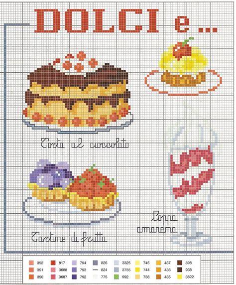 punto croce in cucina manuela creazioni schemi p croce cucina