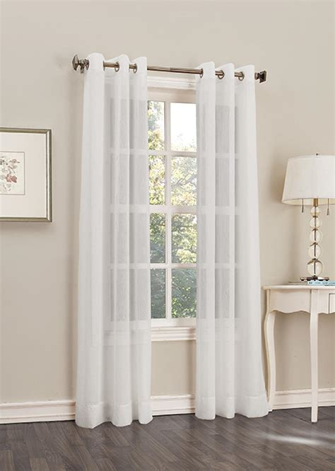 jaclyn smith drapes jaclyn smith 40 quot x 84 quot crinkle voile grommet window panel
