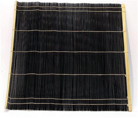 Black Bamboo Mat by