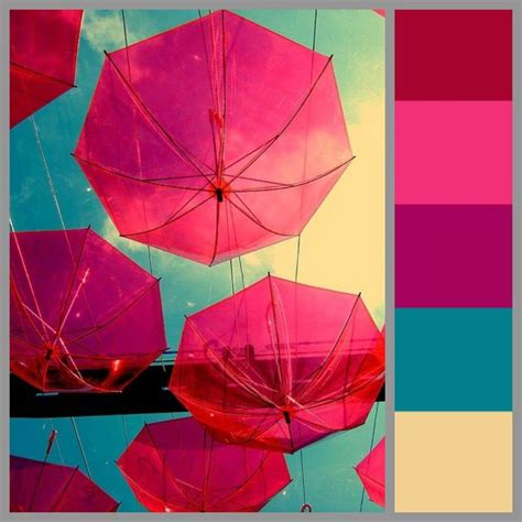 color scheme bright lively pink fuchsia colorful airy