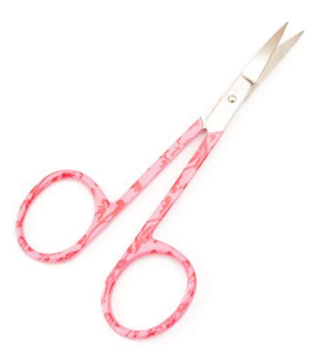 curved cuticle scissors floral print curved cuticle scissors