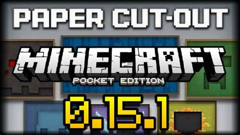 How To Make Paper In Minecraft Pocket Edition - minecraft pe 0 15 6 paper cut out texture pack