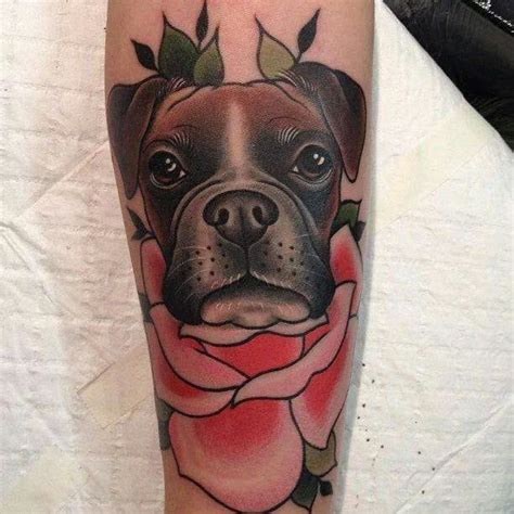 boxer dog tattoo designs free traditional boxer with