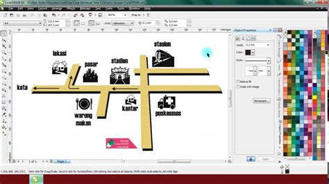 cara membuat logo line belajar coreldraw itu mudah cara membuat peta 3d youtube