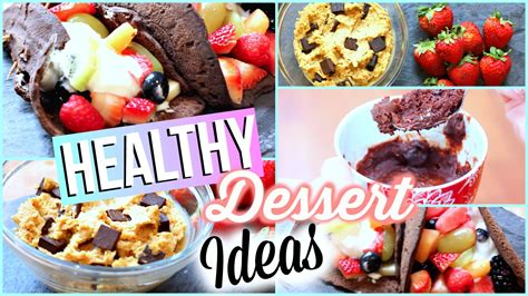 healthy dessert recipes quick and easy youtube