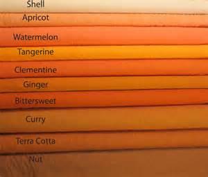 best shades of orange kaffe fassett shot cottons orange color chart