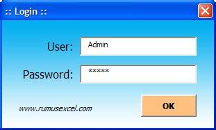 membuat form password di excel cara membuat userform pada excel
