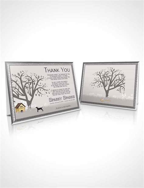 Thank You Card Template Black And White Doggy Heaven Thank You Card Template Black And White