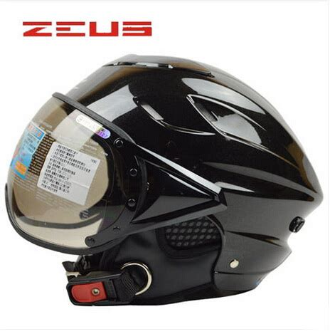 Helm Zeus Z610 Black zeus 125b motorcycle helmet abs half motorbike helmet summer electric bicycle helmet uv