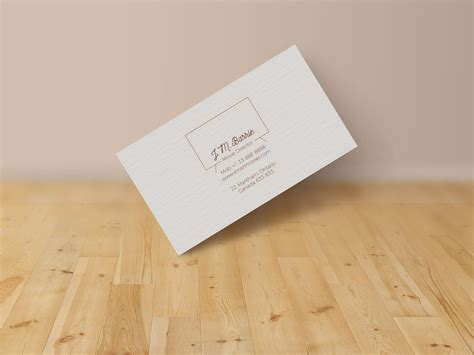 basic business card template psd extremely simple free business card design mock up psd