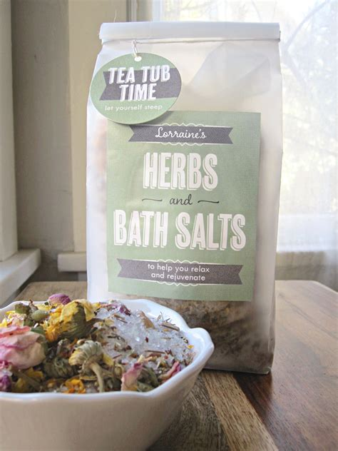 bath salts bathtub herbal bath salts tea tub time gift favor ideas from evermine