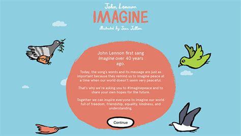 imagine lyrics printable version it s nice that jean jullien illustrates john lennon s