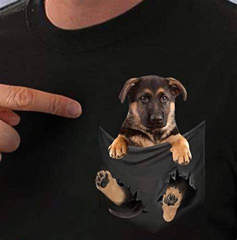 Amazon.com: German Shepherd inside pocket T Shirt