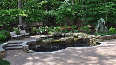 tiered patio designs tiered landscape pond ideas river rock landscaping ideas interior designs