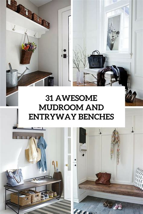 cool entryway benches 31 awesome mudroom and entryway benches shelterness