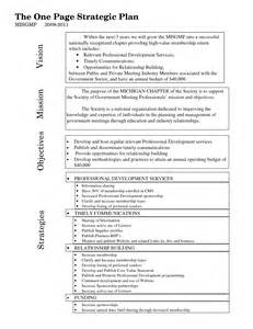 one page strategic plan template best photos of sle strategic plan template school