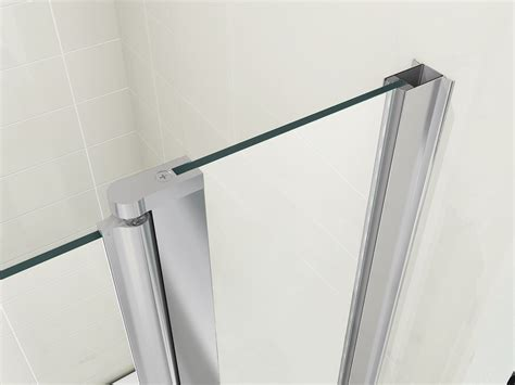 glass screens for bathrooms 180 176 pivot 6mm glass double over bath shower screen ebay