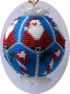 Beaded christmas ornament pattern by beadingornamentals on etsy