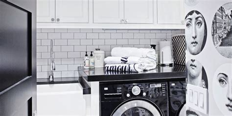 Black And White Laundry Room Contemporary Laundry Room Black And White Laundry