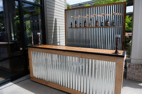 corrugated metal bar large  corrugated metal backdrop