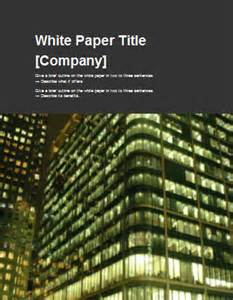 Technical White Paper Template Word by White Papers Ms Word Templates Free Tutorials