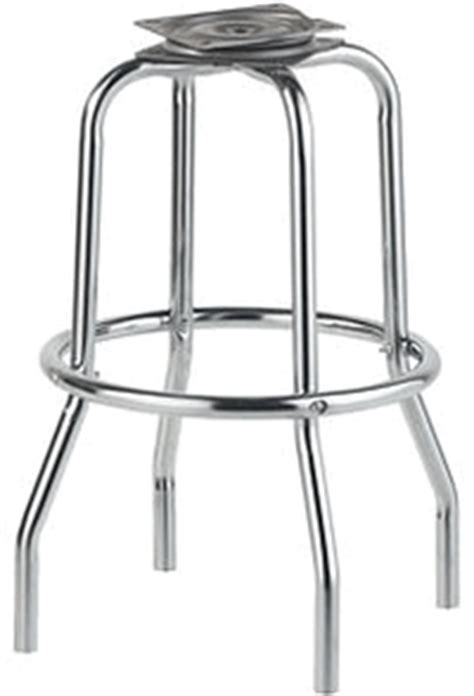 Bar Stool Frames Replacement by 1 Ring Chrome Bar Stool Frame