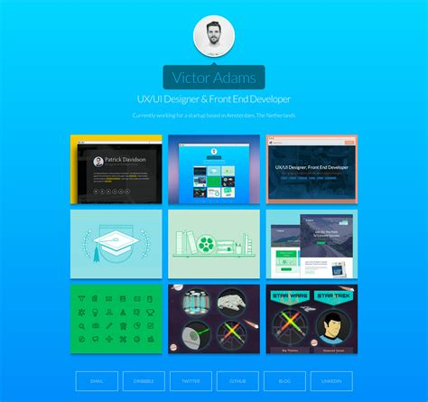 themes for html page revo one page dribbble portfolio html css themes on
