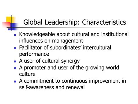 born global characteristics ppt leadership and management in multinational companies