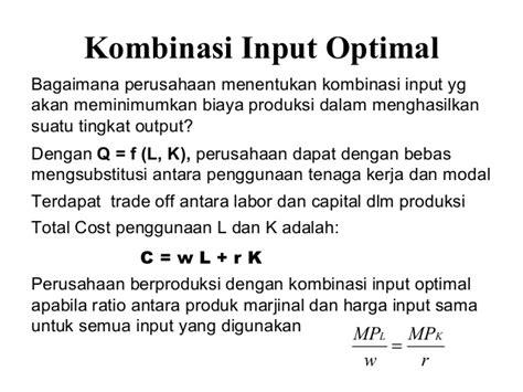 slope dan intersep produksi