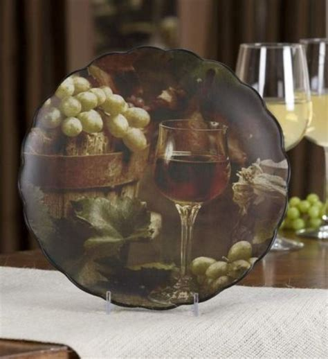 Decorative Grape Plates by Wine Grape Tuscan Decorative Wall Plate For Kitchen