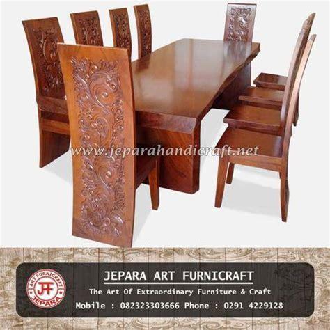 Meja Kayu Utuh jual set meja makan kayu utuh kursi majapahit harga murah