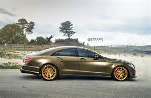 the bronze masterpiece mercedes cls 63 amg with strasse