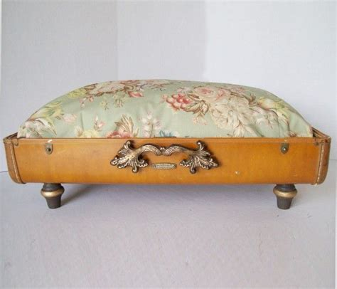 unique pet beds recycled vintage suitcase made into unique pet bed