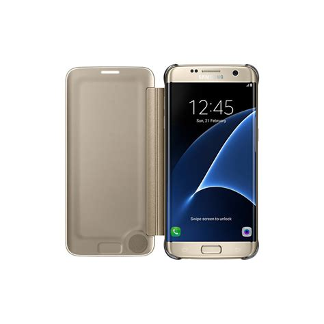 Clear View Cover Samsung Galaxy S7 Edge Cover 100 Original galaxy s7 edge clear view cover gold samsung uk