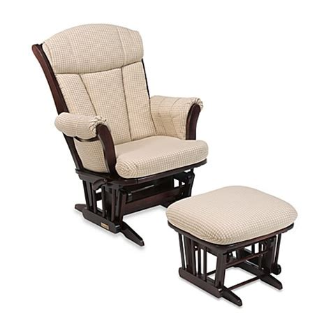 Fabric Glider Recliner With Ottoman Dutailier 174 Multiposition Reclining Sleigh Glider And Ottoman In Joseph Beige Fabric Cherry Wood
