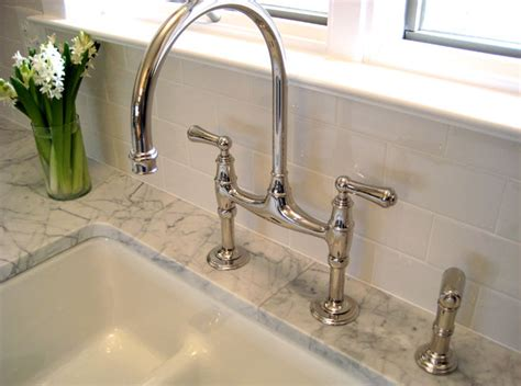 bridge faucets kitchen perrin and rowe gooseneck bridge kitchen faucet design ideas