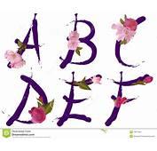 El Alfabeto Del Resorte Con Las Flores Letra A B C D E