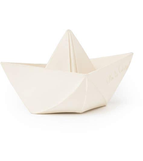 Origami White - oli carol origami boat white