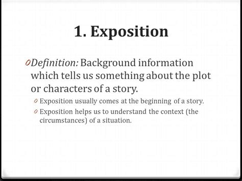 background information definition plot structure ppt
