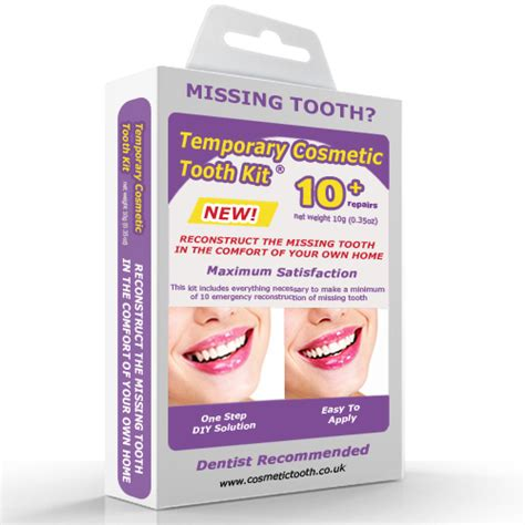 temporary cosmetic tooth missing teeth emergency kit