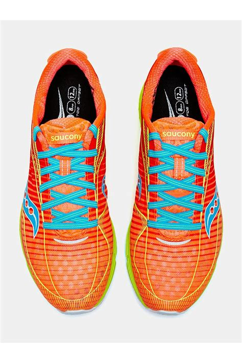 athletic shoe types saucony type a6 s running shoe in orange lyst