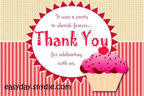 Thank You Card Birthday Gift - thank you card for birthday gift gangcraft net