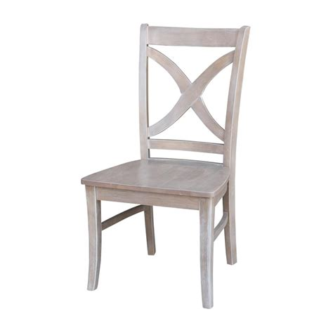 Gray Wood Dining Chairs International Concepts Salerno Weathered Gray Wood Dining Chair Set Of 2 C09 14p The Home Depot
