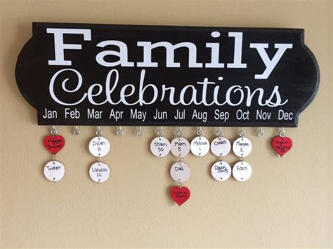 Celebrate Calendar Family Celebrations Birthday And Anniversary Board Calendar
