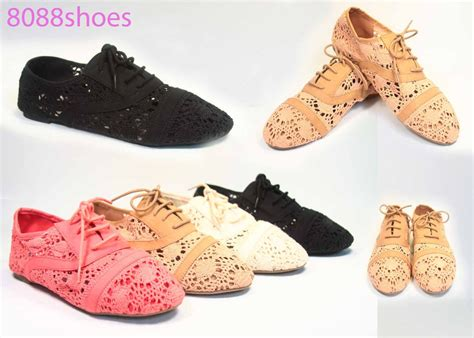 crochet oxford shoes s fashion crochet lace up rounded flat oxford shoes