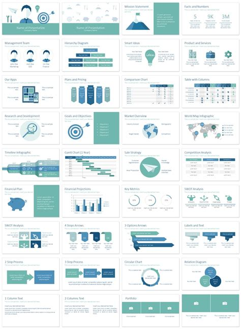 plan on a page template powerpoint business plan powerpoint template presentationdeck