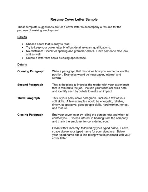 Resume Cover Letter Example   Best Template Collection
