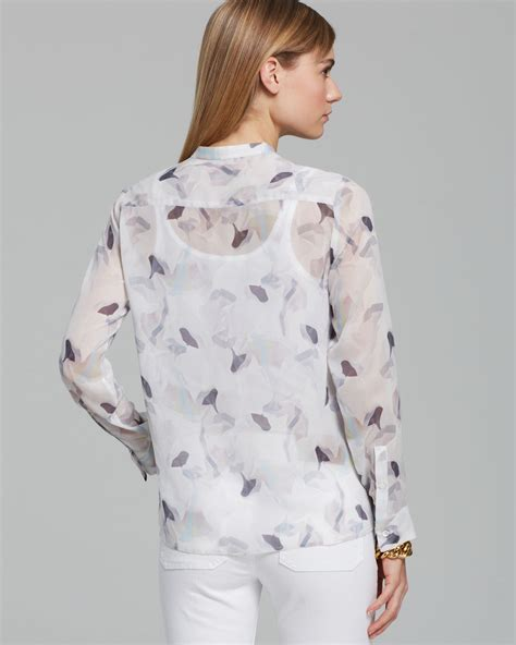 Amola Dress theory blouse brindan pc amola lyst